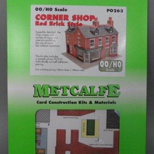 Metcalfe Metcalfe PO263 Laden auf der Ecke in rotem Backstein (Baugröße H0/OO)