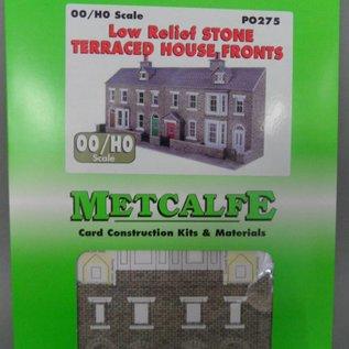 Metcalfe Metcalfe PO275 Voorzijde van rijtjeshuizen in grijze steen (Schaal H0/00, Karton)