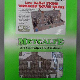 Metcalfe Metcalfe PO277 Reihenhäuser in grauem Stein, nur Rückseiten (Halbrelief/Hintergrundmodell) (Baugröße H0/OO)