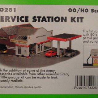 Metcalfe Metcalfe PO281 Tankstation met garage en showroom (Schaal H0/00, Karton)