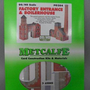 Metcalfe Metcalfe PO284 Ketelhuis met fabrieksingang (Schaal H0/00, Karton)