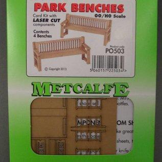 Metcalfe Metcalfe PO503 4 Park banken (Schaal H0/00, Karton)