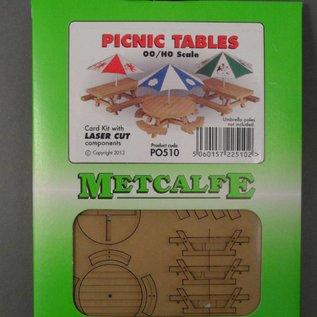Metcalfe Metcalfe PO510 Picnic tafels (Schaal H0/00, Karton)