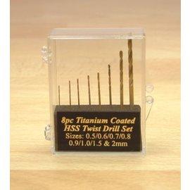 Expo Tools Expo 11530 Bohrersatz Titan beschichtet 8 Stück 0.5-2mm