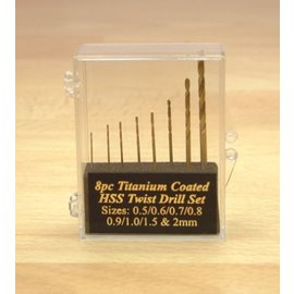 Expo Tools Expo 11530 Bohrersatz 8 Stück Titanbeschichtet 0.5 - 2mm