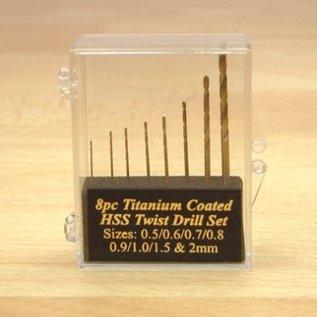 Expo Tools Expo 11530 Borenset 8 stuks Titanium gecoat 0.5 - 2mm