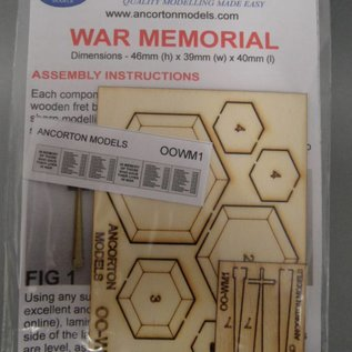 Ancorton Models Ancorton OOWM1 Kriegsdenkmal (Spur H0/OO, lasercut)