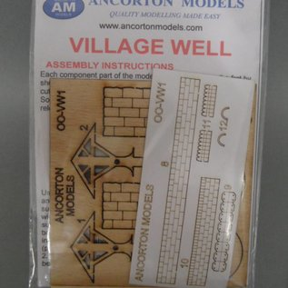 Ancorton Models Village well, laser cut kit, H0/OO gauge