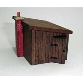 Ancorton Models Lineside building, sleeper built platelayers hut kit, H0/OO scale