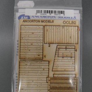 Ancorton Models Ancorton OOLB2 Streckenhäuschen aus Eisenbahnschwellen (Spur H0/OO, lasercut)