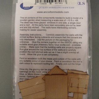 Ancorton Models Garden shed kit, laser cut kit, H0/OO gauge