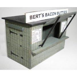 Ancorton Models Bert's Bacon Butty Hut, laser cut kit, OO gauge