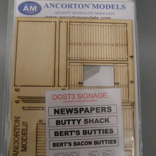 Ancorton Models Ancorton OOST3 Snackbar/friture (Schaal H0/00, lasercut)