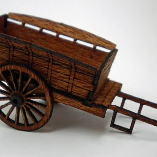 Ancorton Models Farm cart, horse drawn, H0/OO scale