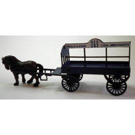 Ancorton Models Ancorton OOCW1 Coal wagon, horse drawn (horse not included) (H0/OO gauge, lasercut)