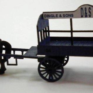 Ancorton Models Ancorton OOCW1 Kolenwagen (paard niet inbegrepen) (Schaal H0/00, lasercut)