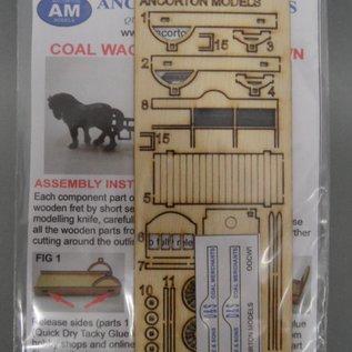 Ancorton Models Coal wagon, horse drawn, laser cut kit, H0/OO gauge