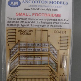 Ancorton Models Ancorton OOFB1 Kleine Fußbrücke (Baugröße H0/OO, lasercut)