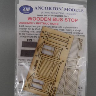 Ancorton Models Ancorton OOBUS2 Bushaltestelle (Spur H0/OO, lasercut)