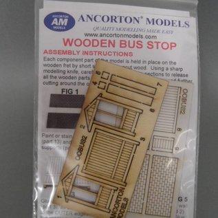 Ancorton Models Bushaltestelle/Wartehäuschen (Baugröße H0/OO Lasergeschnitten)