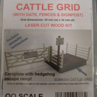 Ancorton Models Cattle Grid, laser cut kit, H0/OO gauge