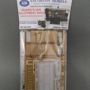 Ancorton Models Schuurtje gemaakt van oude personeelswagon (Schaal H0/OO, lasercut)