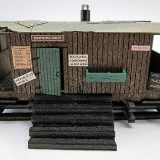Ancorton Models Guards van allotment shed, laser cut kit, H0/OO gauge