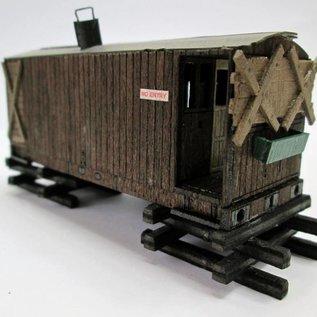Ancorton Models Ancorton OOGV2 Schuurtje van oude personeelswagon (Schaal H0/OO, lasercut)