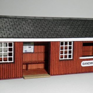 Ancorton Models Platform waiting room with cafe, laser cut kit, H0/OO gauge