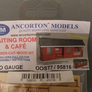 Ancorton Models Ancorton OOST7 Haltestelle mit Cafe  (Spur H0/OO, lasercut)