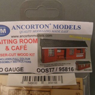 Ancorton Models Ancorton OOST7 Wachtkamer met café (Schaal H0/00, lasercut)