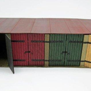 Ancorton Models Garagen aus Betonplatten (1 Satz = 1 Block von 4 Garagen) (Baugröße H0/OO Lasergeschnitten)