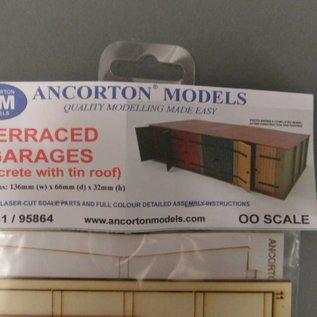 Ancorton Models Terraced Garages kit, laser cut kit, H0/OO gauge