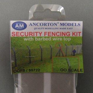 Ancorton Models Ancorton OOF8 Maschendraht Zaun mit Stacheldraht (Spur H0/OO, lasercut)