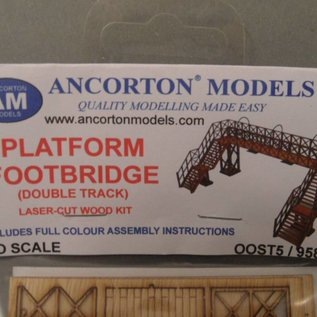 Ancorton Models Ancorton OOST5 Fußgängerbrücke für Bahnsteig (Spur H0/OO, lasercut)