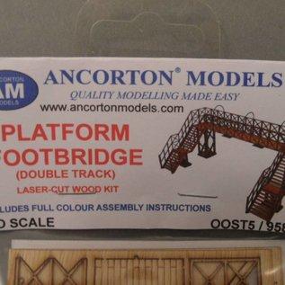 Ancorton Models Spoorweg voetgangersbrug (Schaal H0/00, lasercut)