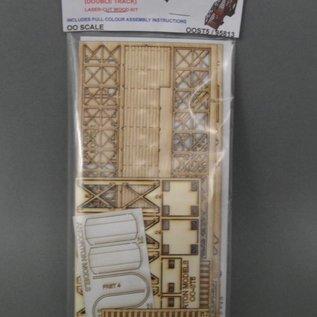 Ancorton Models Wooden platform footbridge kit, laser cut kit, H0/OO gauge