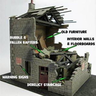 Ancorton Models Ruined house kit, laser cut kit, H0/OO gauge
