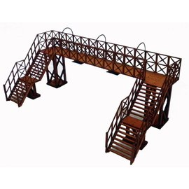 Ancorton Models Wooden platform footbridge kit, laser cut kit, H0/OO gauge