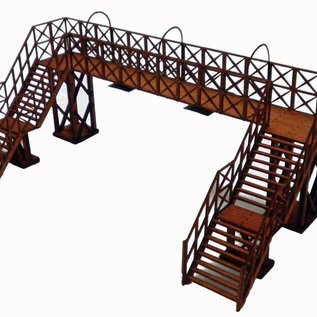 Ancorton Models Ancorton OOST5 Spoorweg voetgangersbrug (Schaal H0/00, lasercut)