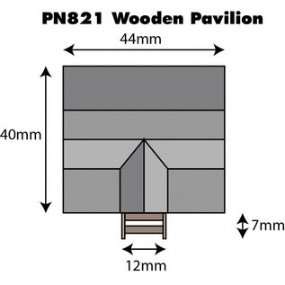 Metcalfe Metcalfe PN821 Wooden Pavilion (N gauge)