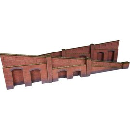 Metcalfe Metcalfe PO248 Tapered retaining wall in red brick (H0/OO gauge)