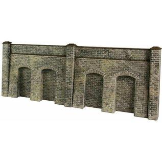 Metcalfe Metcalfe PO245 Arkadenstützmauer in grauem Stein (Baugröße H0/OO)
