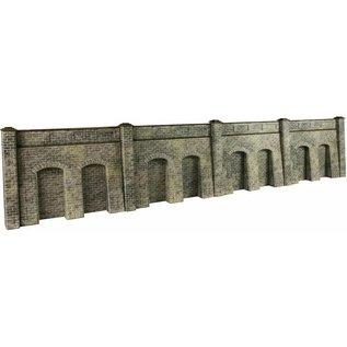 Metcalfe Metcalfe PO245 Steun- galerijmuren in grijze steen (Schaal H0/00, Karton)