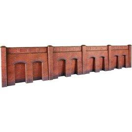 Metcalfe Metcalfe PO244 Retaining wall in red brick (H0/OO gauge)
