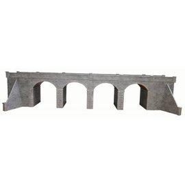 Metcalfe Metcalfe PO241 Dubbelspoors viaduct in grijze steen (Schaal H0/00, Karton)