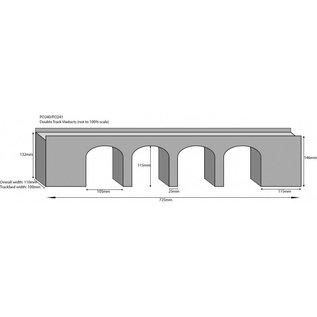 Metcalfe Metcalfe PO241 Zweigleisiges Viadukt in grauem Stein (Baugröße H0/OO)