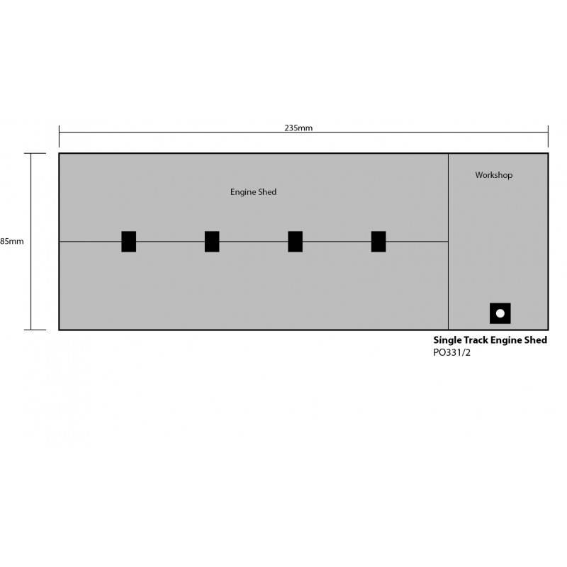 PO331 Metcalfe OO//HO Red Brick Single Track Engine Shed