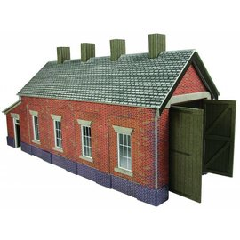 Metcalfe Metcalfe PO331 Single track engine shed in red brick (H0/OO gauge)