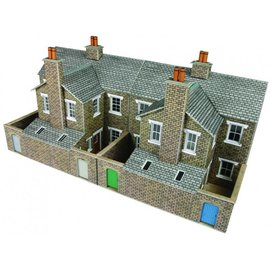 Metcalfe Metcalfe PO277 Low relief terraced stone house backs (H0/OO gauge)